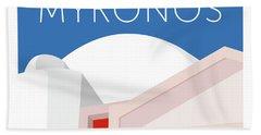 Mykonos Walls - Blue Hand Towel