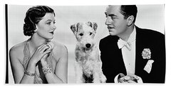 Myrna Loy Asta William Powell Publicity Photo The Thin Man 1936 Bath Towel