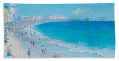 Myrtle Beach And Springmaid Pier Bath Towel by Jan Matson