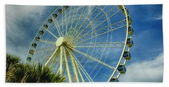 Bath Towel featuring the photograph Myrtle Beach Skywheel by Bill Barber