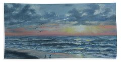 Hand Towel featuring the painting Myrtle Beach Sunrise by Kathleen McDermott