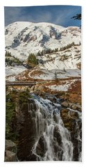 Myrtle Falls, Mt Rainier Bath Towel