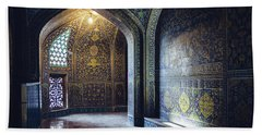 Mysterious Corridor In Persian Mosque Hand Towel