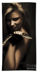 Mysterious Dark Sorceress Hand Towel