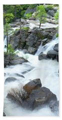 Mysterious Falls In Yosemite Bath Towel