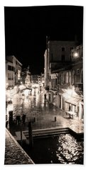 Mysterious Venice Monochrom Hand Towel