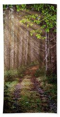 Hand Towel featuring the photograph Mystery At Dawn by Debra and Dave Vanderlaan