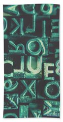 Mystery Writer Clue Hand Towel