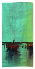 Mystic Bay Triptych 1 Of 3 Hand Towel