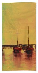 Mystic Bay Triptych 2 Of 3 Hand Towel
