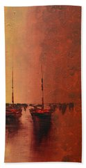 Mystic Bay Triptych 3 Of 3 Hand Towel