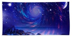 Mystic Lights Hand Towel by Gabriella Weninger - David