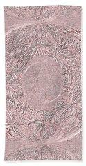 Hand Towel featuring the digital art Mystic Pink. Art by Oksana Semenchenko