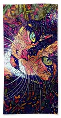 Mystical Calico  Hand Towel by Geri Glavis