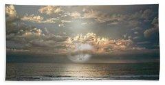 Bath Towel featuring the photograph Mystical Moon by Judy Hall-Folde