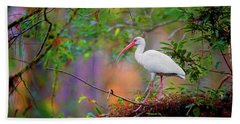Mystical White Ibis Bath Towel