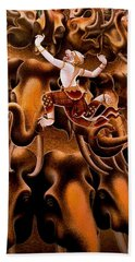 Mythical Warrior Of Siam Hand Towel