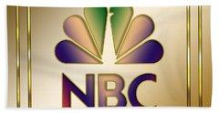 N B C Logo - Art Deco Hand Towel by Chuck Staley