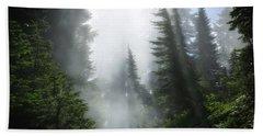 Naches Loop Trail Bath Towel by Lynn Hopwood