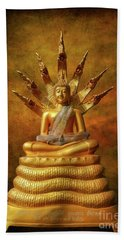 Hand Towel featuring the photograph Naga Buddha by Adrian Evans