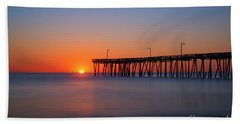 Nags Head Fishing Pier Sunrise Bath Towel