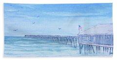 Nags Head Pier Hand Towel