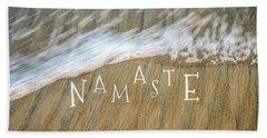 Namaste On The Beach Hand Towel