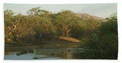 Namibian Waterway Hand Towel by Ernie Echols