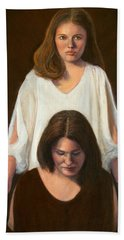 Hand Towel featuring the painting Nancy And Abby by Donelli  DiMaria