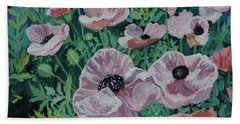 Hand Towel featuring the painting Nancy's Poppies by Robin Maria Pedrero