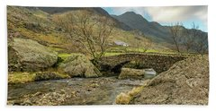 Hand Towel featuring the photograph Nant Peris Bridge by Adrian Evans