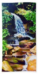 Nantahala Waterfall Hand Towel