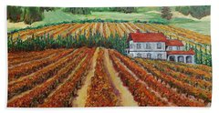 Napa Valley Autumn Bath Towel