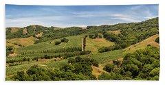 Bath Towel featuring the photograph Napa Valley California Panoramic by Adam Romanowicz