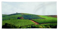 Bath Towel featuring the photograph Napa Valley Vineyards 3 by Timothy Bulone