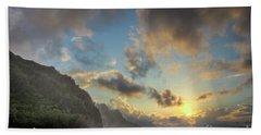 Napali Coast Sunset Kauai Hand Towel