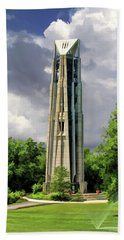 Bath Towel featuring the painting Naperville Millennium Carillon by Christopher Arndt
