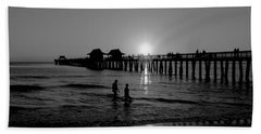 Naples Florida Pier Sunset Bath Towel