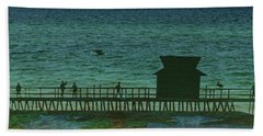 Naples Pier Hand Towel