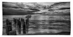 Naples Sunset In Black And White Hand Towel