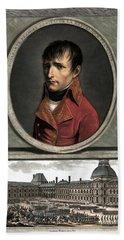 Napoleon Bonaparte And Troop Review Hand Towel