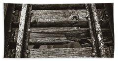 Narrow Gauge Tracks #photography #art #trains Bath Towel