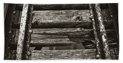 Narrow Gauge Tracks #photography #art #trains Bath Towel