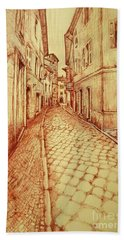 Narrow Street Of Lovere Italy Hand Towel