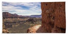 Narrow Trail On The South Kaibab Trail, Grand Canyon Bath Towel