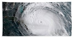 Bath Towel featuring the photograph Nasa Hurricane Irma Satellite Image by Rose Santuci-Sofranko