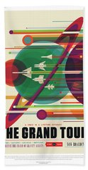 Nasa The Grand Tour Poster Art Visions Of The Future Hand Towel