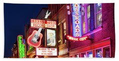 Bath Towel featuring the photograph Nashville Signs by Brian Jannsen