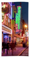 Hand Towel featuring the photograph Nashville Signs II by Brian Jannsen