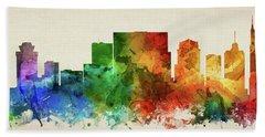 Nashville Skyline Panorama Ustnna-pa03 Hand Towel by Aged Pixel
